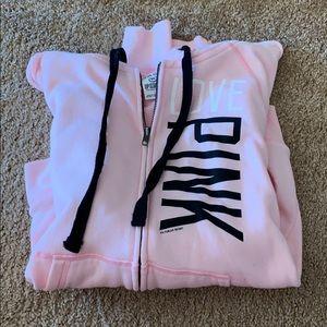 VS PINK zip up sweatshirt